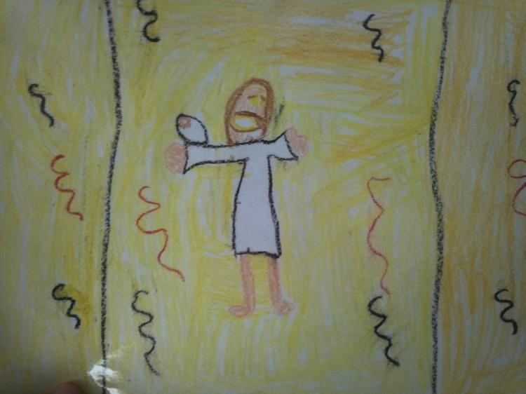 God Holding Baby Jesus